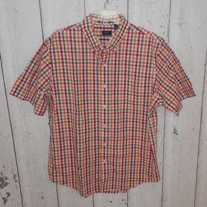 NEW Arrow Mens Large Plaid Hamilton Poplin Shirt